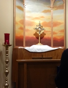 The Real Presence at the perpetual adoration chapel I visited.