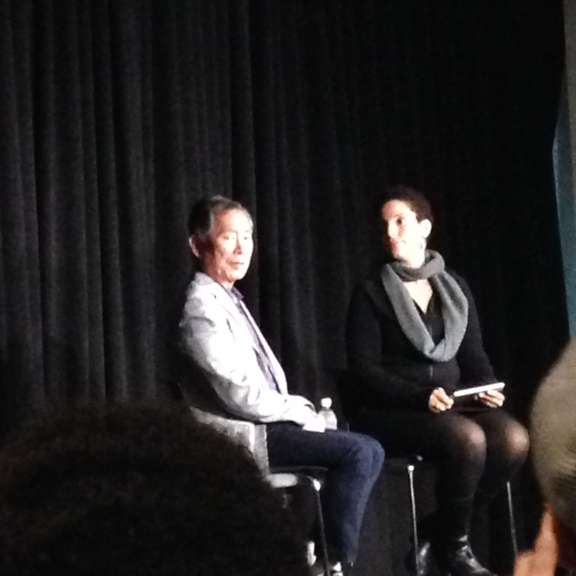 George Takei being interviewed for IMDB.