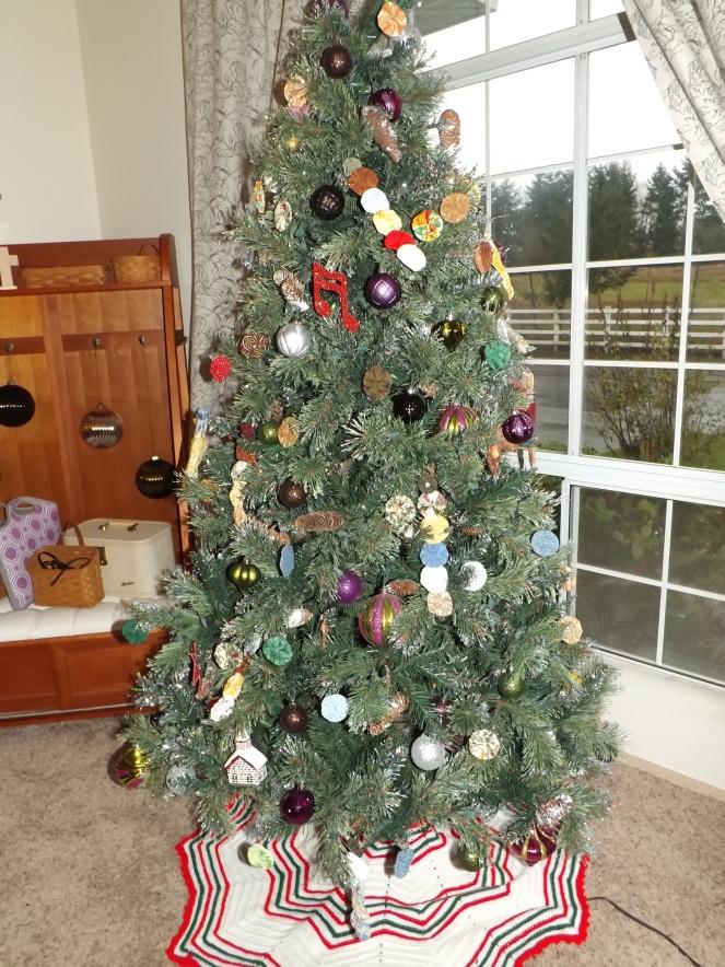 Tree skirt courtesy of my grandma!