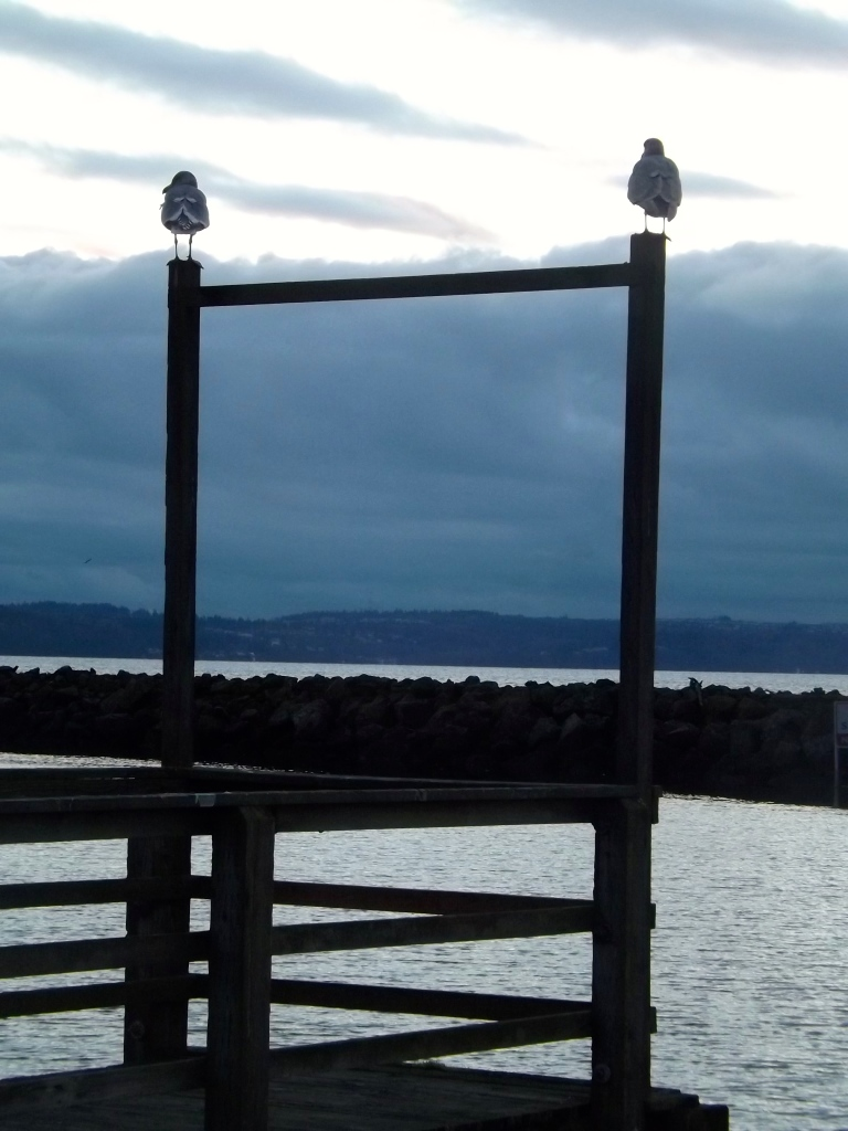 I love seagulls, even if no one else does.  These two standing guard made me smile.