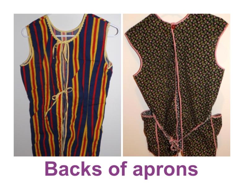 Backs of Aprons