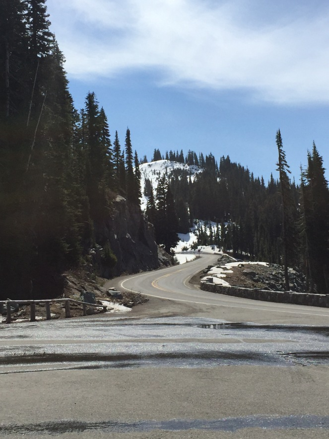 Chinook Pass and the pretty snow.