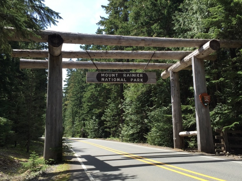 The northeastern entrance to Mount Rainier National Park, off Hwy 410.