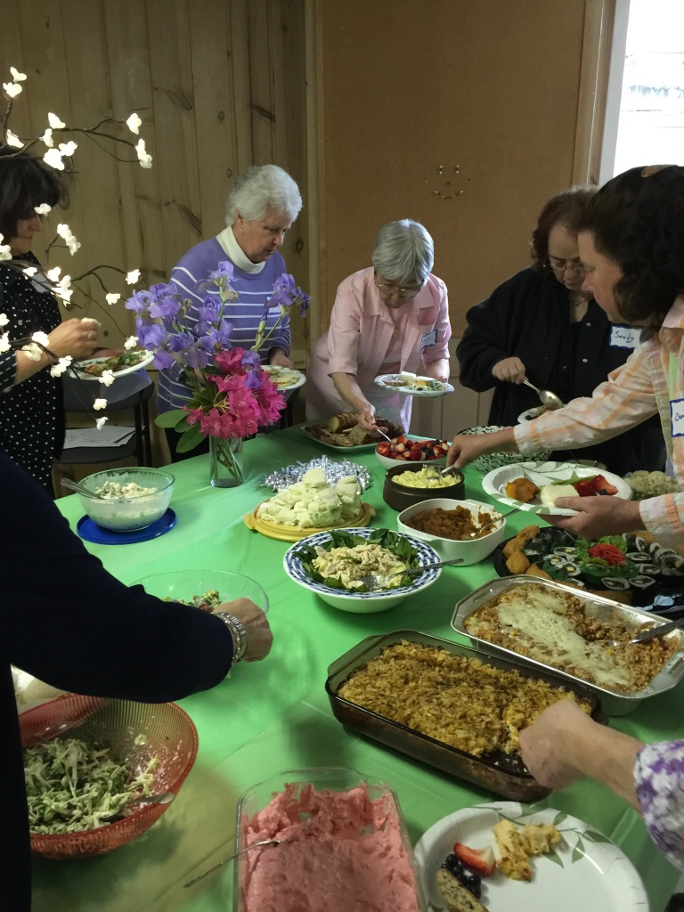 A potluck in the church basement - a tradition as old as time.
