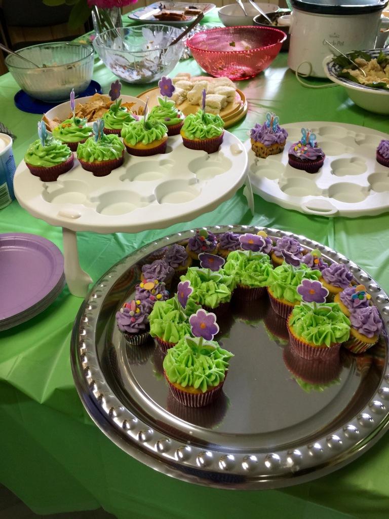 Brenda's beautiful cupcakes.