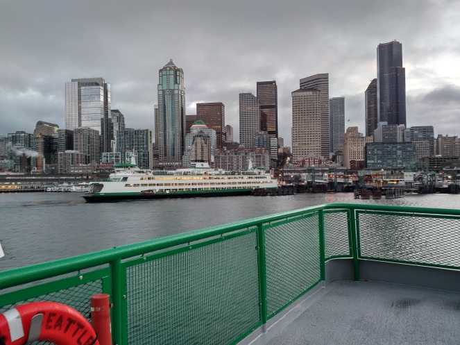 Arriving in Seattle on the Bremerton ferry - morning of November 11th.