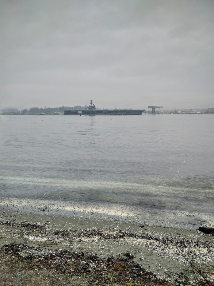The USS John C. Stennis leaving Bremerton.
