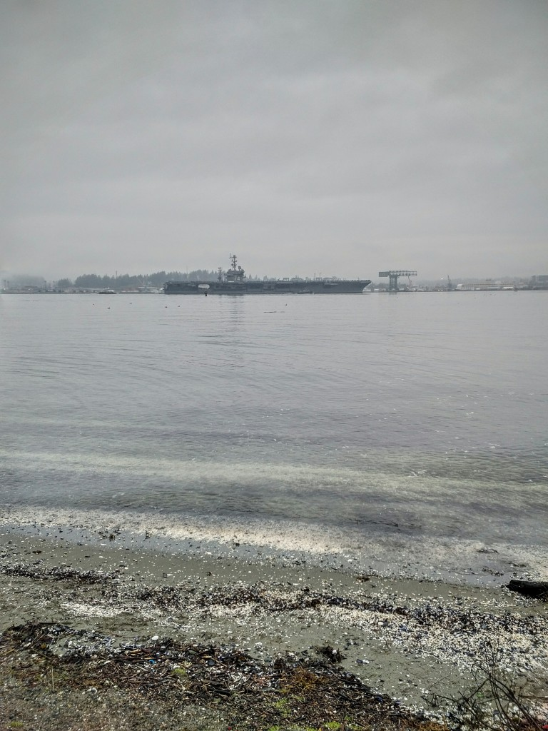 The USS John C. Stennis leaving Bremerton.