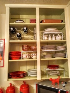 I love my dish shelves!