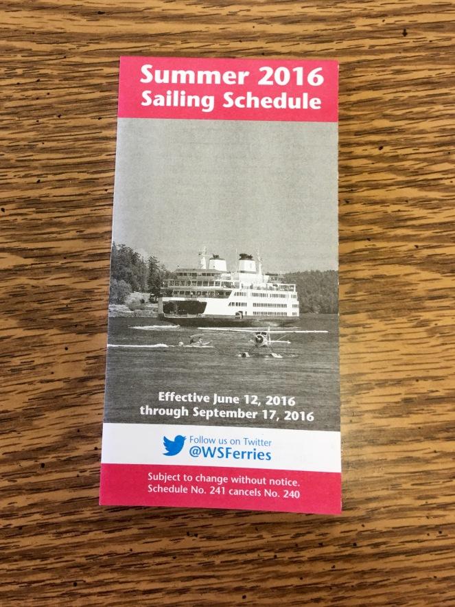 Washington State Ferries summer sailing schedule