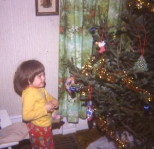 Me + Christmas tree, 1981